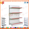 Customized Steel Iron Shelving Supermarket Flat Back Panel Wall Shelves (Zhs583)