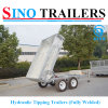 Factory New Design Adr Box Trailer Family Dump Trailer