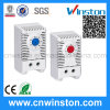 DIN Rail Mountable Wide Adjustment Range Small Temperature Thermostat