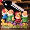 Resin Wine Holder Cute Resin Dwarfs on Table