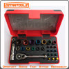 "28PC 1/4"" Metric Ratchet and Socket / Screwdriver Bit Tool Set"