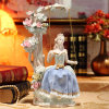 Porcelain Lady Figurine Play on The Swings Good for Home Decoration