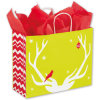 Reindeer Games Shoppers Christmas Paper Shopping Bags Paper Carrier Bags for Shopping in Christmas Day