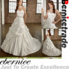 Elegant Custom Made White Taffeta Wedding Dress