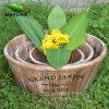 Eco-Friendly Wood Gardening Round Flower Pot