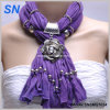 Floral Pattern Pendant Jewelry Slide Scarf (SNSMQ1024)