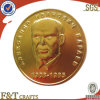 Customized Fake Gold Double Coins with Great Man′s Head Portrait (FTSC1017H)