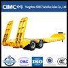 Customized 30-80 Tons Truck Semi Low Bed Trailer