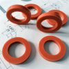 Custom Silicone Rubber Gasket, Red Color with FDA Certificate