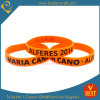 China Customized Logo Promotional Printed Silicone Wristband for Sale