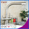 Brass Chromed 3 Way Kitchen Sink Faucet Filter Water Mixer
