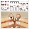 Beautiful Temporary Water Transfer Nail Sticker Decoration Water Sticker