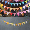 Custom Beautiful Party Decoration Triangle Fabric Bunting Flags