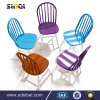 Modern Design Iron Leisure Used French Cafe Chair with Arm