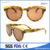 High Quality Antique Round Acetate Sunglasses with Mirror Lens