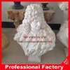 Pure Color Men White Stone Bust Sculpture