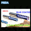 Blue Coated 6 Flutes Finished Bits HRC55