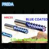 Blue Coated 6 Flutes Finished Bits HRC55