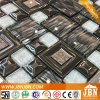 Stainless Steel, Glass, Black, Gold, Silver Color, Wall Decoration Glass Mosaic (M655002)