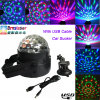 Hot Sale 5V 3W Car DJ Light Mini RGB LED Disco DJ Flash Light for The Car LED Magic Ball Light