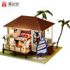 Miniature Wood DIY Doll House with Furniture