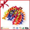 Christmas Scene Colorful Curling Ribbon Bows