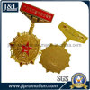 High Quality Copper Military Army Medal in Shiny Gold Plating