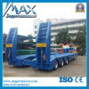 China Excavator Transport Gooseneck Lowboy Low Bed Semi Trailer