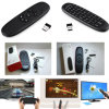 2.4GHz Keyboard Fly Air Mouse Remote Control Touchpad of Android TV Box Black