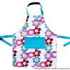 Custom Made Floral Flowers Pattern Printed Cotton Kitchen Women′s Cooking Baking Bib Apron