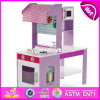 New Style Double-Sided Pretend Play Wooden Kids Play Kitchen Set W10c274