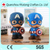 Wholesale Resin Gifts Cantain America Figure Resin Piggy Bank Desk Coin Bank