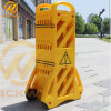 Temporary Yellow Plastic Expanding Safety Barricade for Road Safety