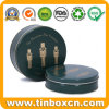 Custom Metal Food Packaging Box Round Nuts Gift Tin Case