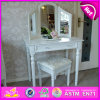 Classic Furniture Style Modern Wooden Dressing Table with 3 Mirror Around W08h020