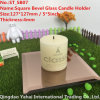 4mm Brown Glass Mirror Candle Holder