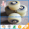 Solid Flat Nylon Plastic Sliding Door Wheel Roller for Profile