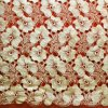 Milk Yarn Gold Thread Flower Chemical Lace for Dress