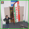 Tongjie Printing Giant Feather Beach Flag for Promotion (TJ-BF0034)