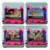 Bouncy House with Changeable Art Panel, Inflatbale Playhouse with Slide