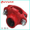"""UL Listed, FM Approved, Mechanical Tee 4""""X2′′ Grooved"""