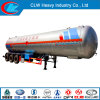 Asme Tri-Axle LPG Tank Truck Trailer with Top Service