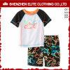 China Cheap Custom Design Screen Printed Rash Guards Kids (ELTRGJ-298)