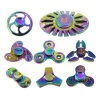Rainbow Tri-Spinner Aluminum EDC Metal Hand Spinner Anxiety Stress Adults Kid Fidget Spinner