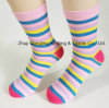 Bright Color Rainbow Strips Ove The Calf Socks