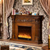 Hotel European Furniture LED Lights Wood Electric Fireplace with Heater (328B)