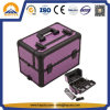 Purple Diamond Makeup Case Wil Slid-out Trays (HB-6307)