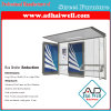 304 Stainless Steel Outdoor Furniture LED Light Box Advertising Bus Stop Shelter