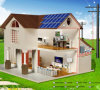 AC Renewable Solar Panel Home Lighting Power/Energy System