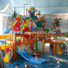 Indoor Kid's Water Playground with Water Slide, Steel Ladder, Water Spray